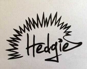 """5"""" Vinyl Hedgie Decal"""