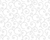 White on White Scroll fabric-Kimberbell Basics Whites by Kimberbell Designs and Kim Christopherson for Maywood Fabric #8243WW