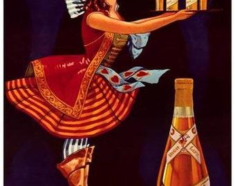Miller High Life Beer Ad  Vintage Advertising Poster
