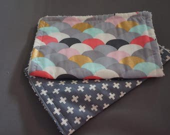 Set of 2 Burp Cloths terry towling back