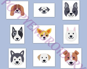 DOG  Designs for Embroidery machine  / chien motifs pour broderie machine / INSTANT DOWNLOAD