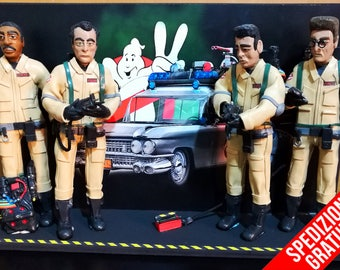 Figurine - Statuette - Action Figures Ghostbusters 1984 Ecto1 background