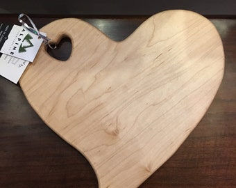 Heart Cutting Board Made in Colorado Cherry Wood