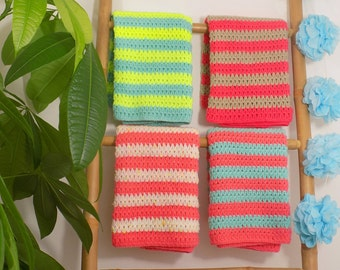 Cover baby | Colorful stripes. Hand-made crochet | Birth gift | Size stroller