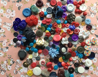 Fun Collection of Vintage Buttons - All Colors