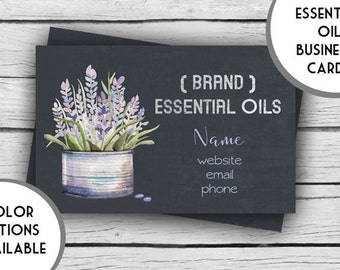 ESSENTIAL OILS Lavender Business Card - PRINTED, Marketing Tools, Printable, Business Stationery, Calling Cards, Direct Sales