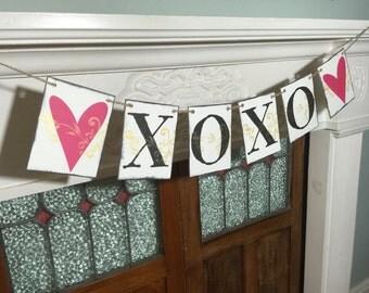XOXO Banner, Love Banner, Valentine's Banner, Valentine's Decor, Love Photo Prop