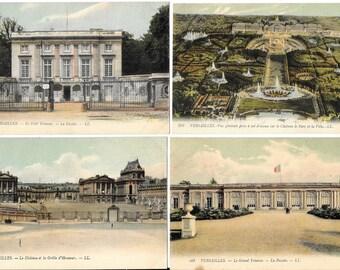 Château de Versailles - Palace of Versailles, France, Antique 1910 Unused Color Postcard Lot, by Lucien Levy, 8 Piece Group