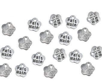 100 charms handmade form flower 8mm