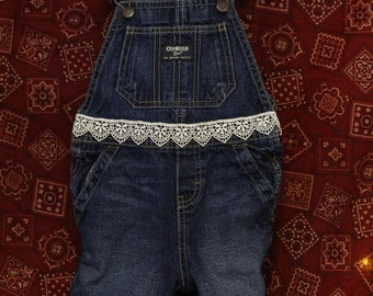 Up-cycled Children's Overalls -Shorts