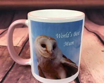 World's best Mum - Barn Owl - CERAMIC MUG