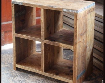 ALLEN | Reclaimed Wood Storage Cube - Handmade & Bespoke