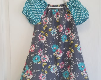 Floral Peasant Dress, Peasant Dress, Girls Dress, Toddlers Dress