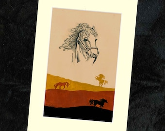 Horse Mounted Print