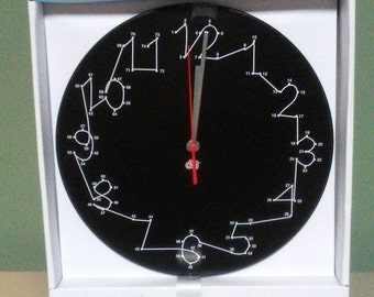 """Brand New 12"""" Twelve Inch Connect The Dots Wall Clock"""