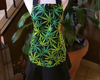 Flirty and Cute Cannabis/Weed Aprons