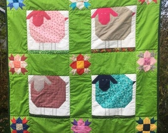 Wooly Sheep Babyquilt