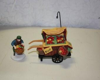 """Dept. 56 """"Chelsea Market Fruit Monger and Cart"""""""