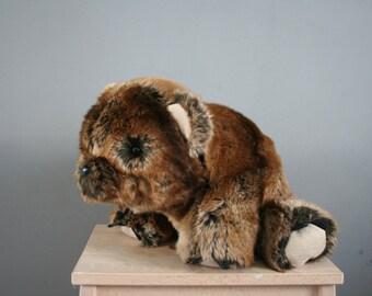Cute bear cub plush, reallt soft, high quality faux fur, 16 inch, floppy bear plushie, made to order