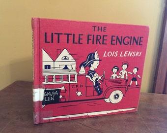 Vintage The Little Fire Engine by Lois Lenski/First Edition Little Fire Engine/Vintage Fire Fighter