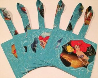 Handmade Disney The Little Mermaid Ariel Flounder Sebastian Scuttle Luggage/Stroller/ID/Backpack/Purse Tags