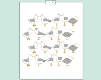 Seagulls Print Decor (limited edition)