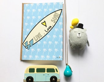 Live Love Surf Card by Katie Cheetham
