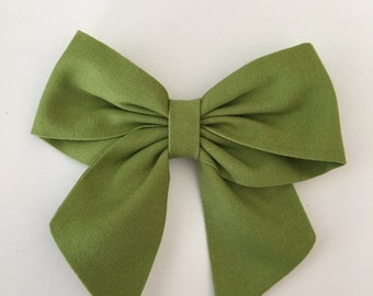 Avocado Green sailor bow