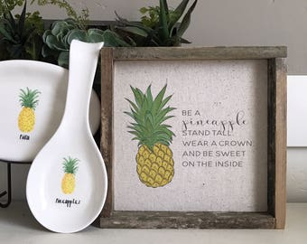 Pineapple  // 9x9 Handmade Sign