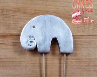 Metallic Fondant Elephant Cake Topper (MADE TO ORDER)