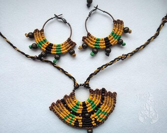 Boho jewellery set Gift for her Tribal jewellery set Macrame jewelry set Christmas Gift  Set for her Gift girlfriend Gypsy  jewelry set