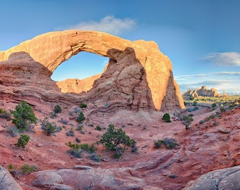 South Window Arch Sunset, Arches National Park, Utah.