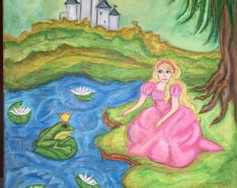 Frog Prince - Signed Print of Original Painting by Artist: Heidi Ramseur Lee