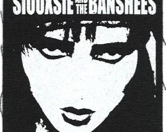 Siouxsie and the Banshees Cloth Patch, Sew-On, Punk Rock
