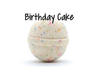Birthday Cake Bath Bomb | Birthday Cake Goat Milk Bath Bomb | Fizzy