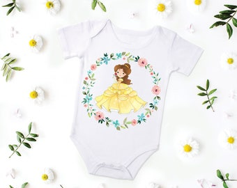 Beauty and the Beast, Princess Belle, Princess Belle Shirt, Princess Belle Outfit, Princess Belle Top, Princess Belle Birthday Girl