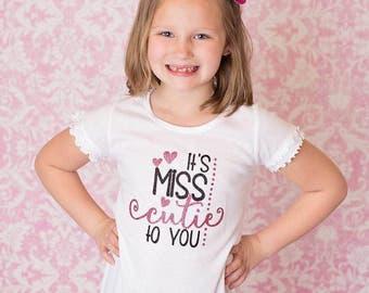 Miss Cutie Shirt, Baby Girl Clothes, Little Miss Shirt, Little Miss Bodysuit, Miss Cutie Bodysuit, Cutie Pie, Cutie Pie Shirt, Cute Shirt