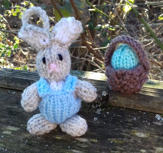 Easter Bunny Pattern Easter Knitting Patterns by NewForestKnits