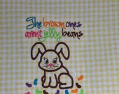 Embroidered Easter Bunny Kitchen Towel