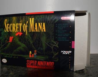 Secret of Mana Super Nintendo SNES Reproduction Box! Best Repros in the world!