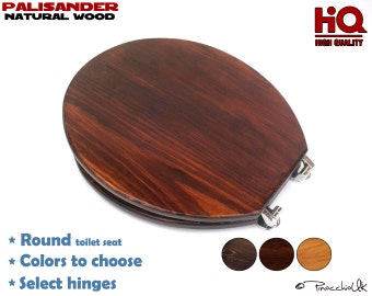 Slow close Elongated wooden toilet seat 3 colors to choose