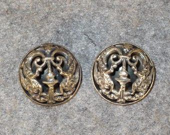 Napier Vintage Silver Clip-On Earrings