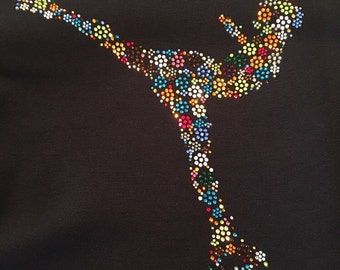 Custom Skater Girl Rhinestone Shirt
