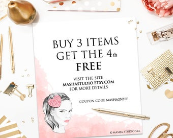 DISCOUNT COUPON Buy 3 items get the 4th free