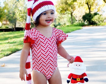 Holiday outfit PEPPERMINT Leotard Baby's and girl's Leotards for dance, playtime, dress up, or any fashionista