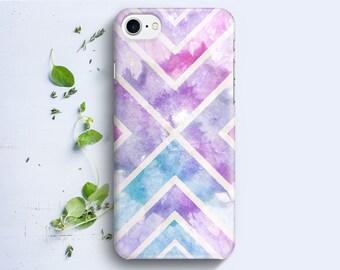 iPhone Case - Geometric Watercolor Texture - iPhone 4/4s iPhone 5 iPhone 5c iPhone 5s iPhone 6 iPhone 6 Plus iPhone 6s iPhone SE iPhone 7