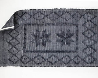 Medium Woven Cotton Rug with knots