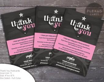 Plexus Thank You Cards - Chalkboard Design [Printed & Shipped]