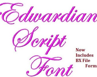 Edwardian Script Font - Machine Embroidery Design - Three Sizes- Instant Download