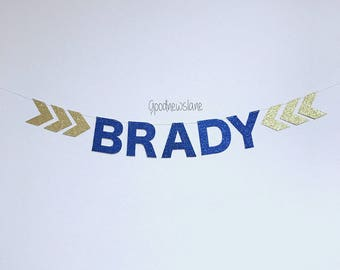Personalized Name Arrow Banner, wedding, engagement, birthday, baby shower, party